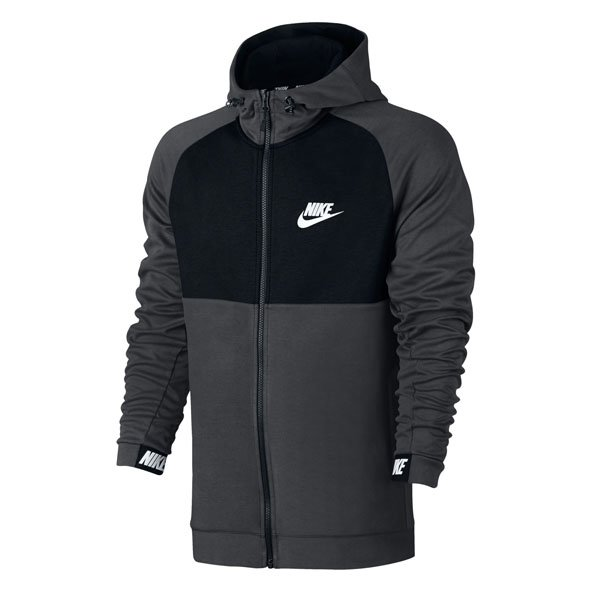 Nike Swoosh AV15 Men's Fleece Hoody, Grey