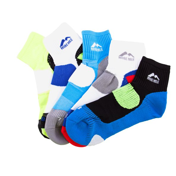 More Running 5pk Sock Mens Assosted