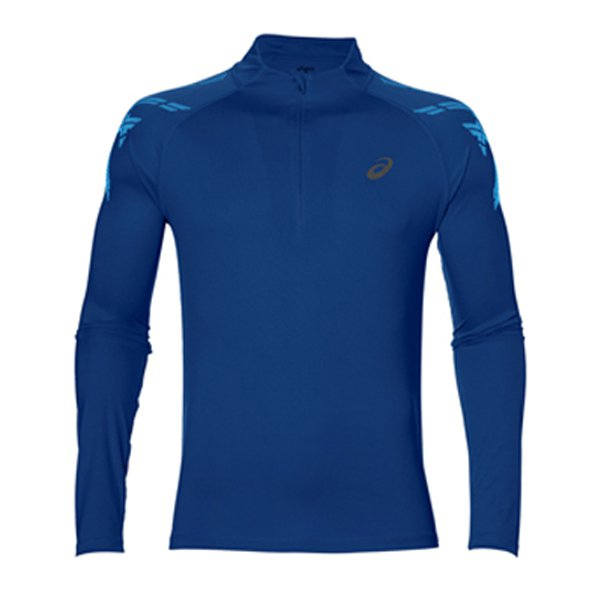 Asics Stripe ½ Zip Men's Running Top, Blue