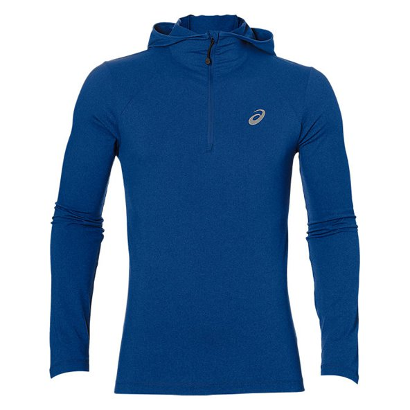 Asics Run Men's Long Sleeve Hoody, Blue