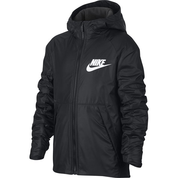 Nike Swoosh Lined Boys Jacket Blk/Anthr