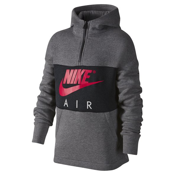 Nike Air Poly ½-Zip Boys' Hoody, Grey