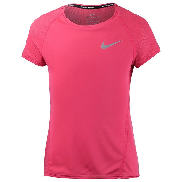Nike Dry Run Girls SS Top Red