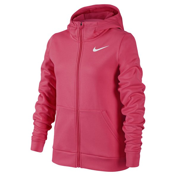 Nike Therma FZ Girls Hoody Pink/Wht