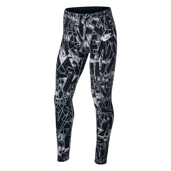 Nike Swoosh Aop Club Girl Tight Black/Wh