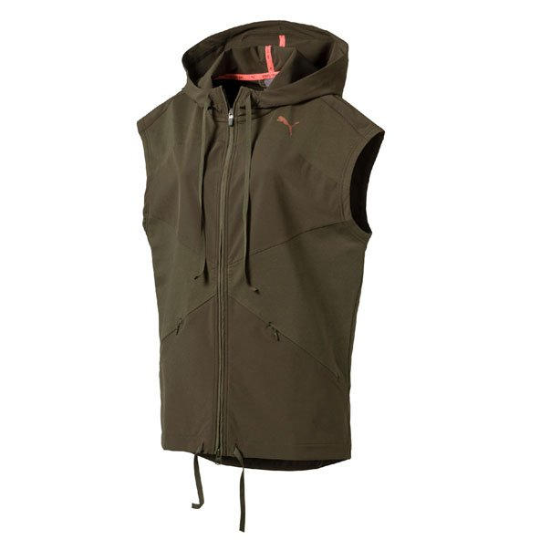 Puma Transition Women's Sleeveless Jacket, Green