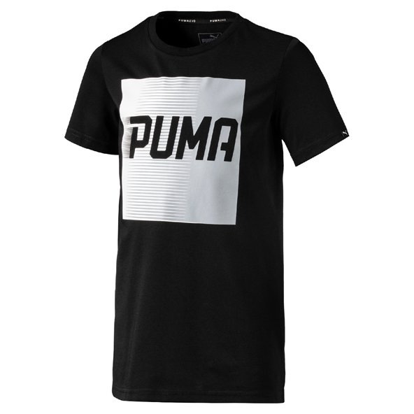 Puma Evo Graphic Boys Tee Black