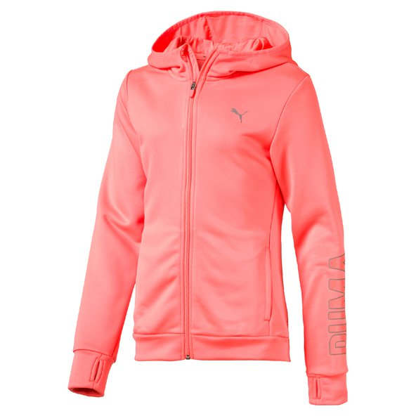 Puma Training FZ Girls Hoody Peach
