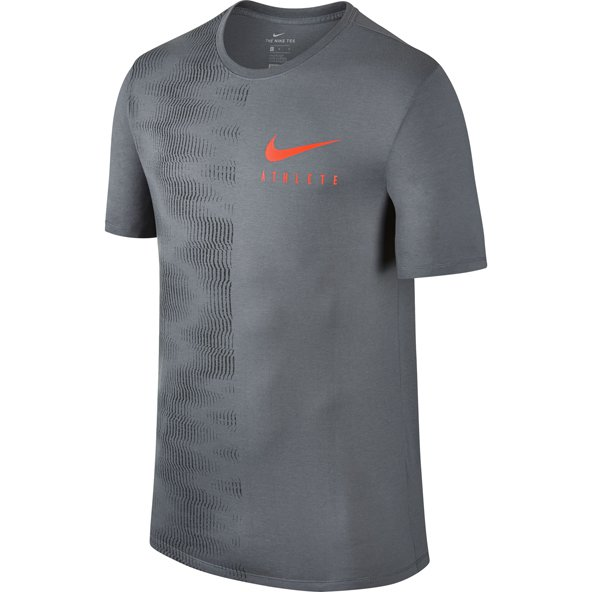 Nike Dry Wall  Mens Tee Grey/Crms