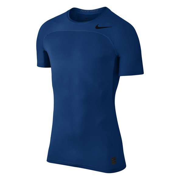Nike Hyper- Col Fitted Mens Top Blue/Blk