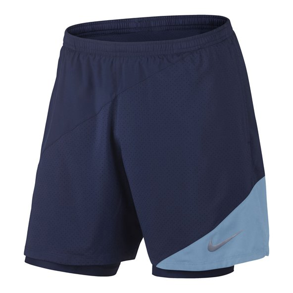 "Nike Distance 7"" 2in1 Mens Short Blue/Sk"