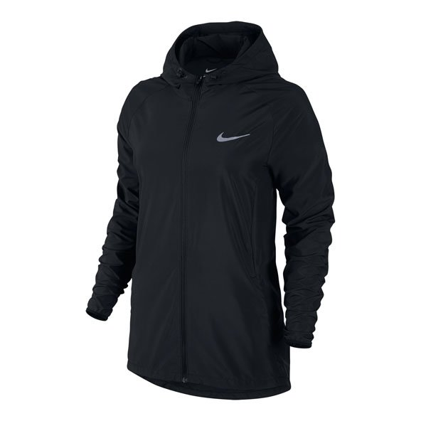 Nike Ess Hooded Wmn Jacket Black/Silv