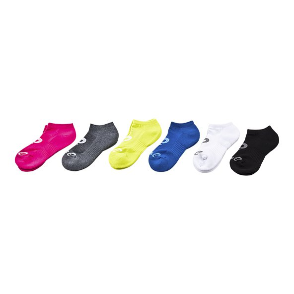 Asics 6 Pack Invisable Men Sock Black As