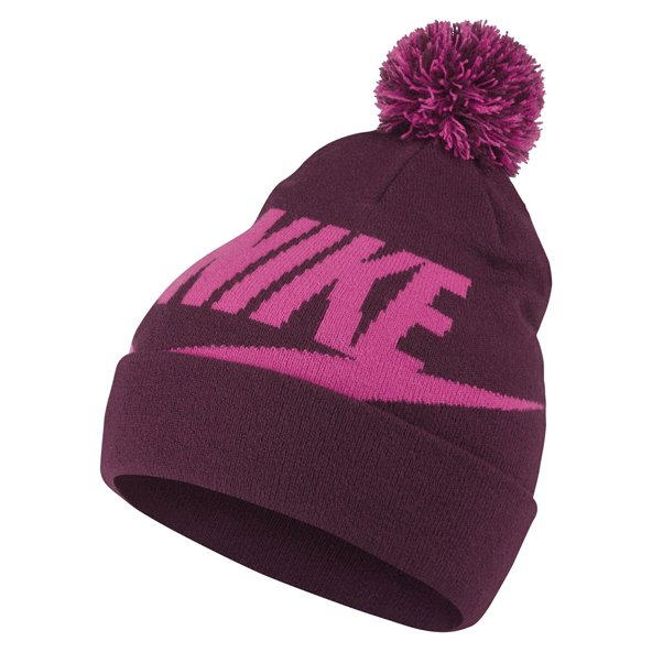 Nike Pom Girls' Beanie, Purple
