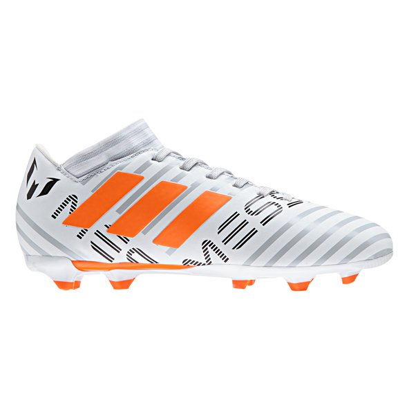 adidas Nemeziz 17.3 FG Kids' Football Boot, White