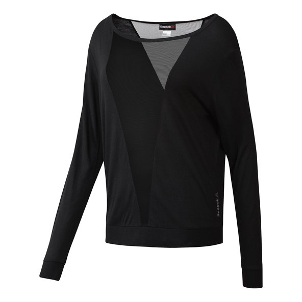 Reebok Mesh Women's LS T-Shirt, Black
