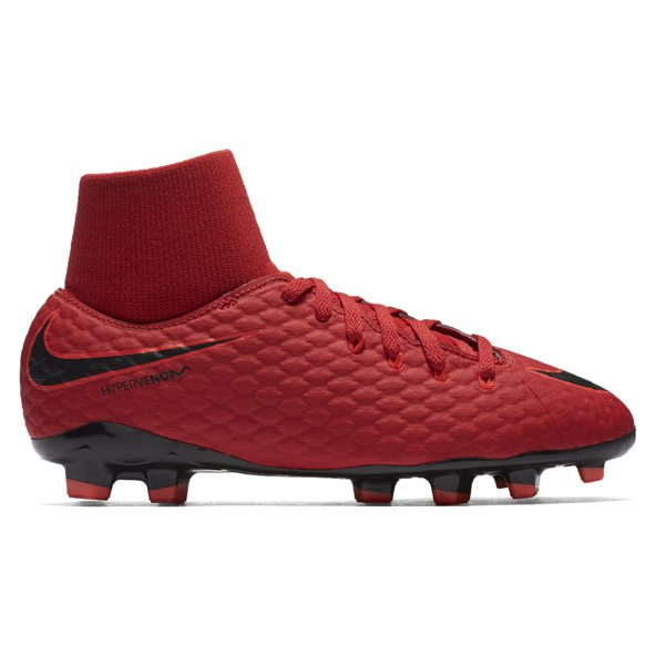 Nike Hypervenom Phelon III Kids' DF FG Football Boot Red