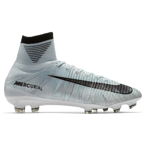 Nike Mercurial Superfly V CR7 Kids' FG Football Boot, Blue Tint