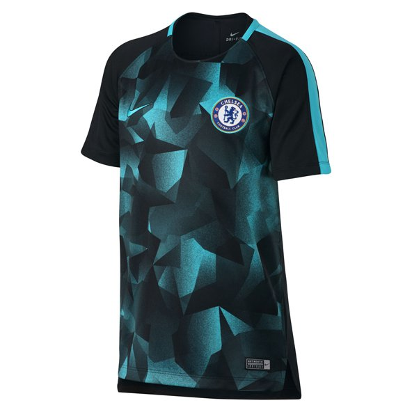 Nike Chelsea 2017/18 Kids' CL Squad T-Shirt, Blue
