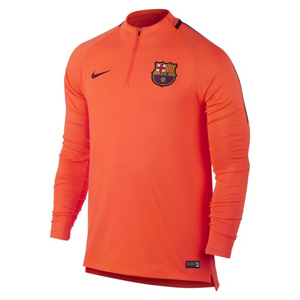 Nike FC Barcelona 2017 Squad Drill Top, Orange