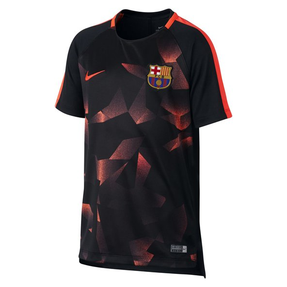Nike FCB 17 CL Kids Squad Tee Black