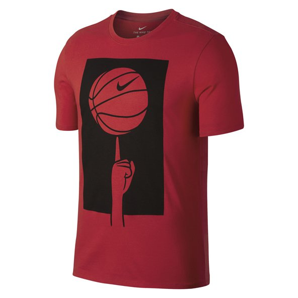 Nike Basketball Spinning Mens Tee Red