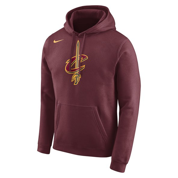 Nike Cleveland Cavaliers Fleece Hoody, Red