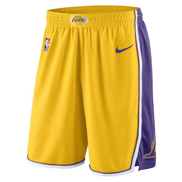 Nike LA Lakers Kids' Basketball Short, Gold
