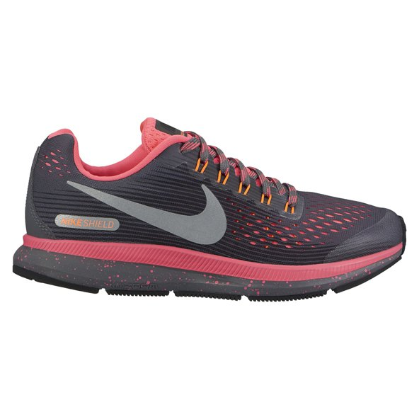 Nike Zoom Pegasus 34 Shield Girls' Running Shoe, Grey