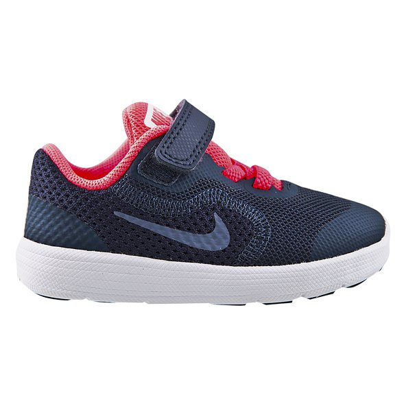 Nike Revolution 3 Infant Girls' Trainer, Navy