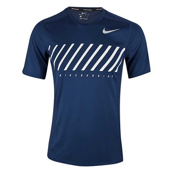 Nike Dry Miler Men's Running T-Shirt, Blue
