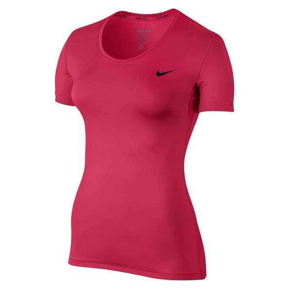 Nike Pro Cool Short Sleeve Women's Tee Pink/Blk