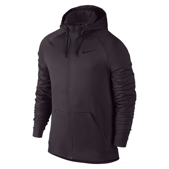 Nike Therma Full Zip Mens Hoody - Port Wine