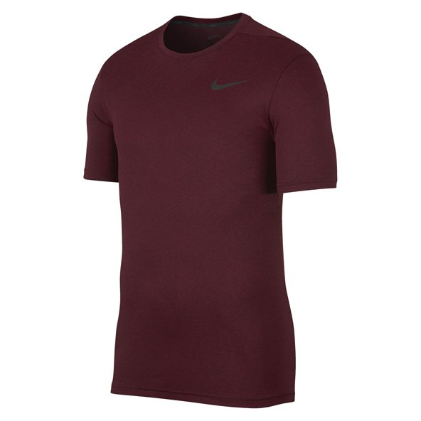 Nike Dry Hyper Breathe Men's Training T-Shirt, Maroon