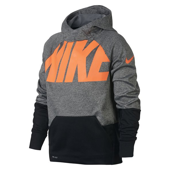 Nike Therma Boys' Training Hoody, Grey