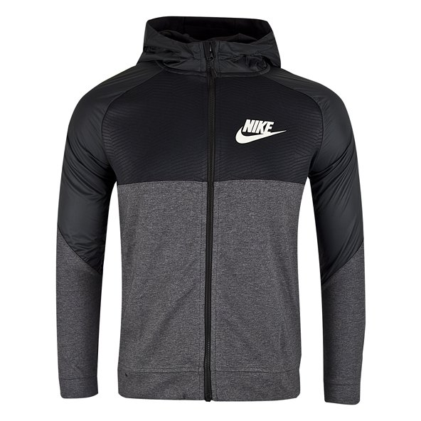 Nike Advance 15 Boys' Full Zip Hoody, Grey