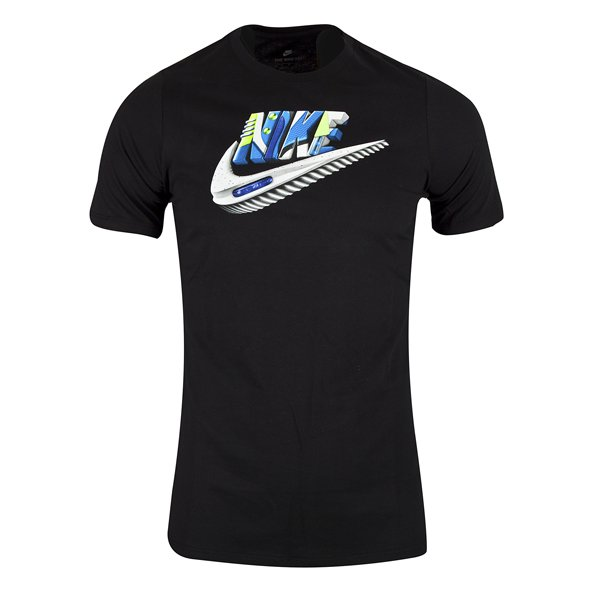 Nike Swoosh Air Max Futura Boys' T-Shirt, Black