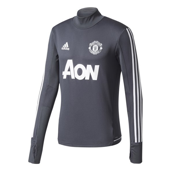 adidas Man Utd 17 Training Top Grey