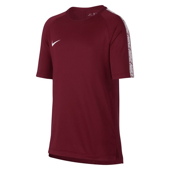 Nike Breathe Squad Boys' T-Shirt, Red