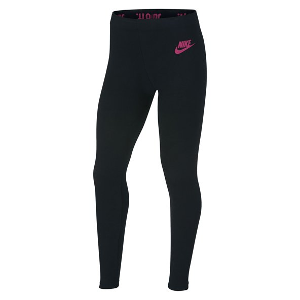 Nike Swoosh Leg-A-See Girls' Tight, Black