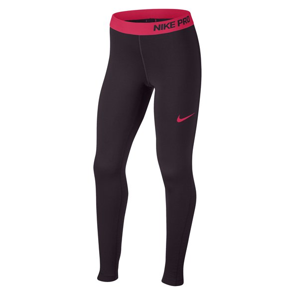 Nike Pro Warm Girls' Tight, Port Wine Red