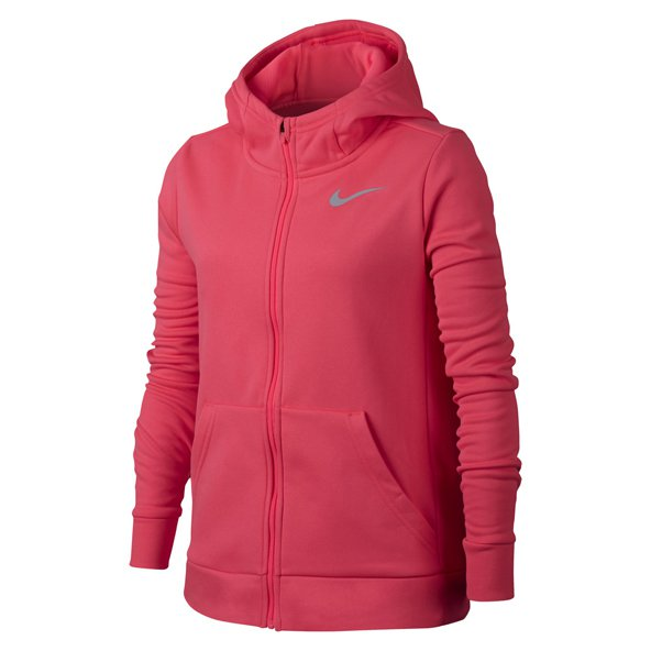 Nike Therma Girls' FZ Hoody, Pink