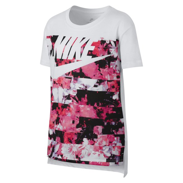 Nike Swoosh Hyper Fade Girls' T-Shirt, White