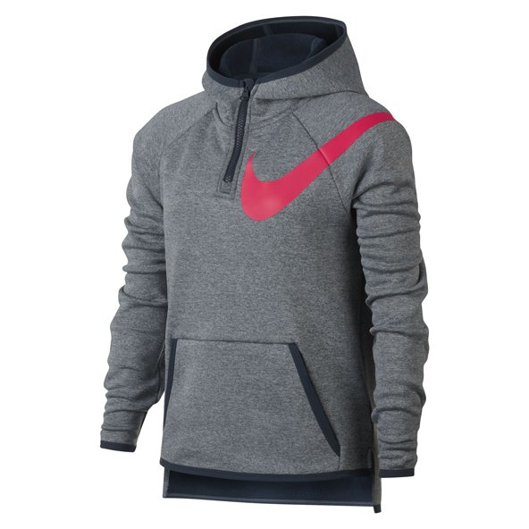 Nike Therma Girls ½ Zip Training Hoody, Grey