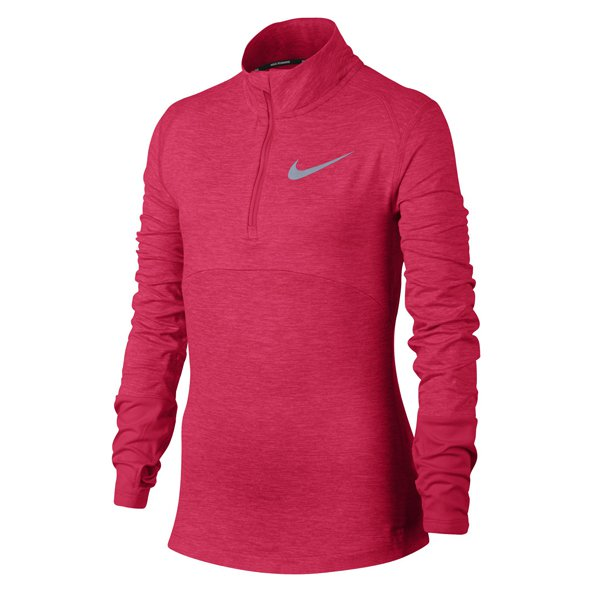 Nike Dry Element Girls ½ Zip Running Top, Pink