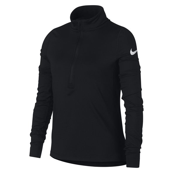Nike Pro Warm ½ Zip Girls' Top, Black