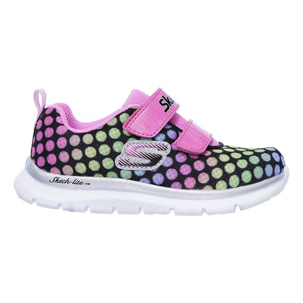 Skechers Skech-Lite Lil' Dots Infant Girls' Trainer, Black