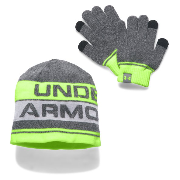 Under Armour® Boys' Glove/Beanie Combo Set, Grey