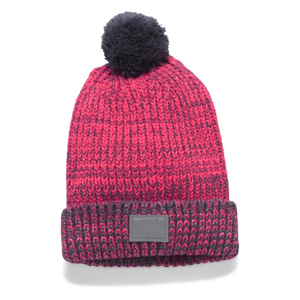 Under Armour® Shimmer Pom Girls' Beanie, Pink