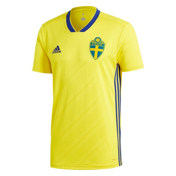adidas Sweden 2018 Kids' Home Jersey, Yellow